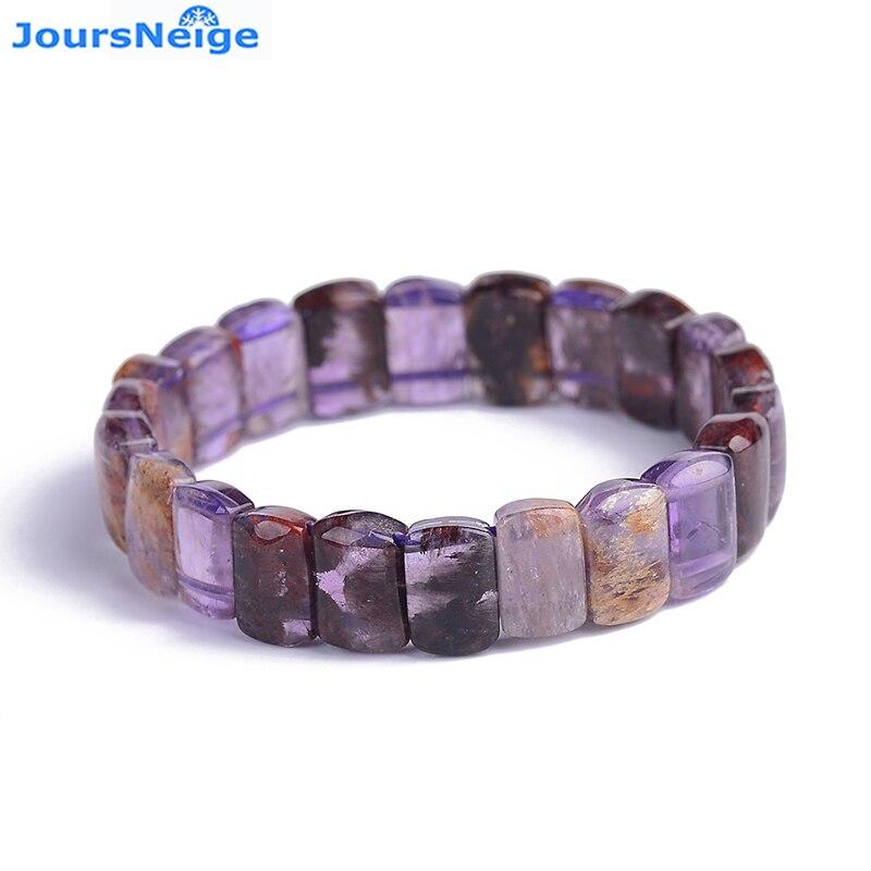 Purple Natural Titanium Crystal Bracelet