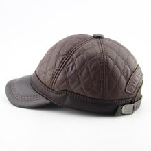 BFDADI High Quality Baseball Cap Men Autumn Winter Fashion Caps Winter Warm Hats Thick Earmuffs Baseball Cap 2 Colors Size 56-60