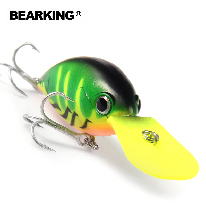 Perfect Bearking fishing tackle professional Hot fishing lures, crank 64mm/16g,dive 3.2m,different colors,hard baits bearking 5pcs lot professional fishing lure crank different colors each lot crank 65mm