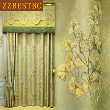 modern royal top luxury 4D embossed blackout curtains for the living room villa drapes upscale hotel bedroom decorative curtain