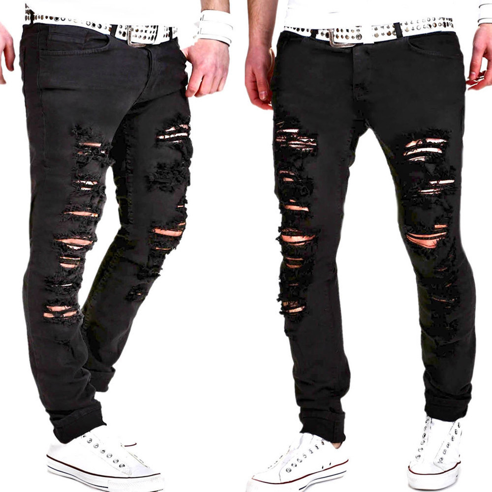 New Fashion Casual Mens Skinny...