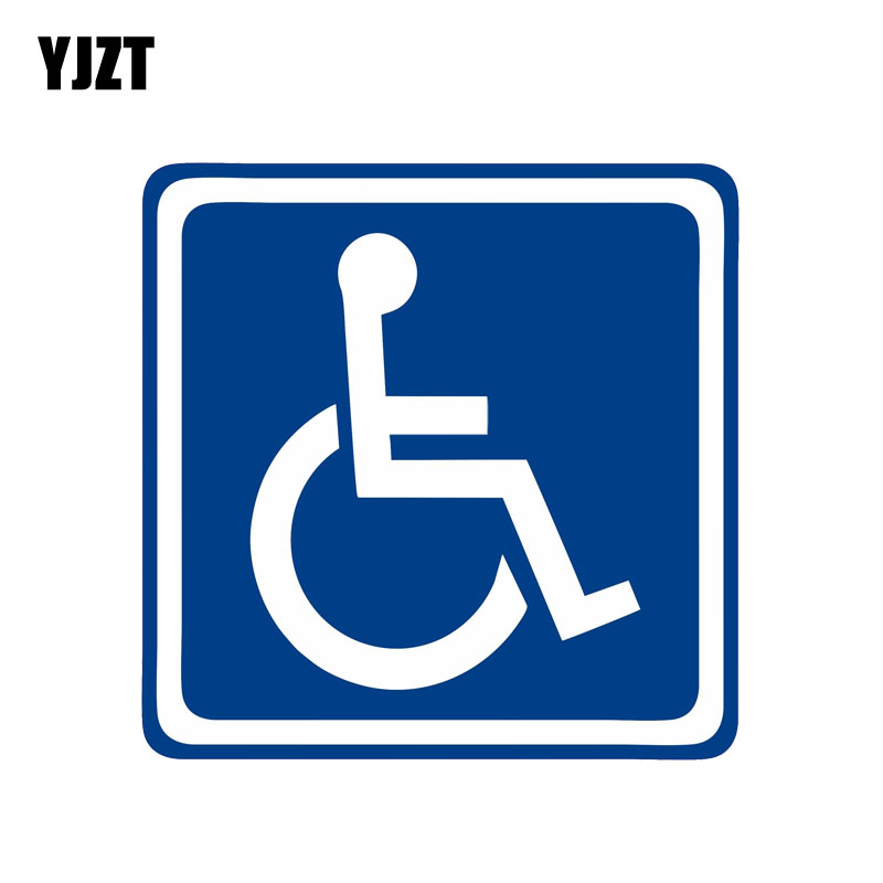 YJZT 13CM*13CM Fashion Disabled Sign Disability Mobility Car Parking  PVC Car Sticker Decal 11-00094