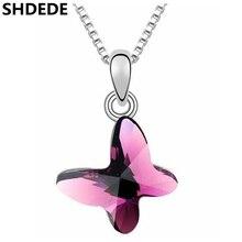Hot New 2016 Mode Colliers Papillon Pendentif Colliers En Cristal de Swarovski Elements Femme Cadeau D'anniversaire 3017