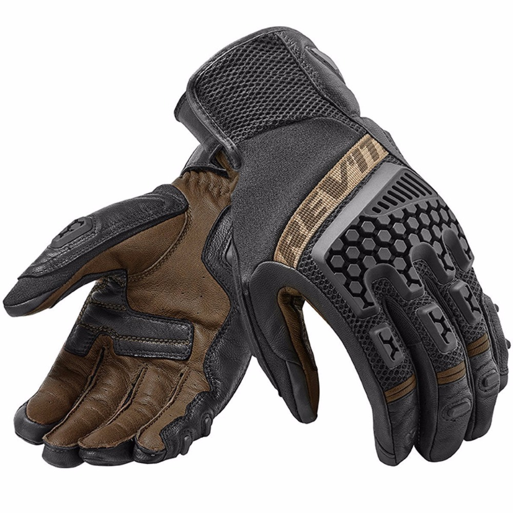 New 2018 Revit Sand 3 Trial Motorcycle Adventure Touring Ventilated Gloves Genuine Leather Motorbike Gloves(China)