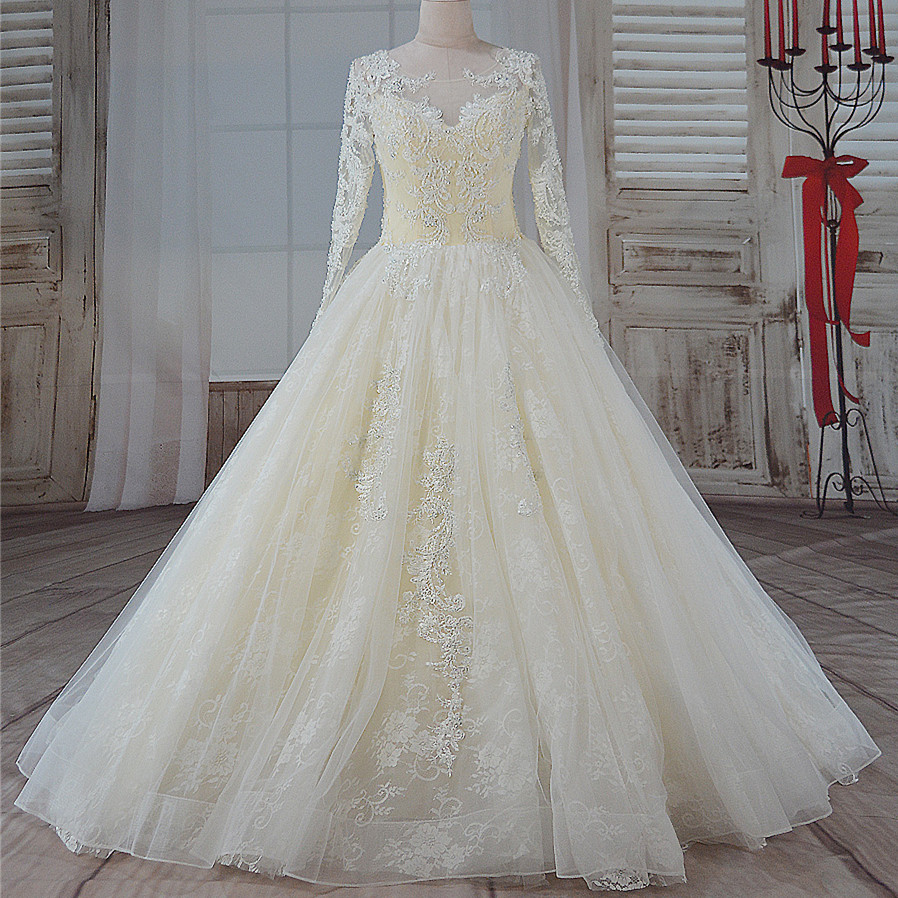 2019 Wedding Ball Gowns: Holievery Vintage Ball Gown Wedding Dresses With Long