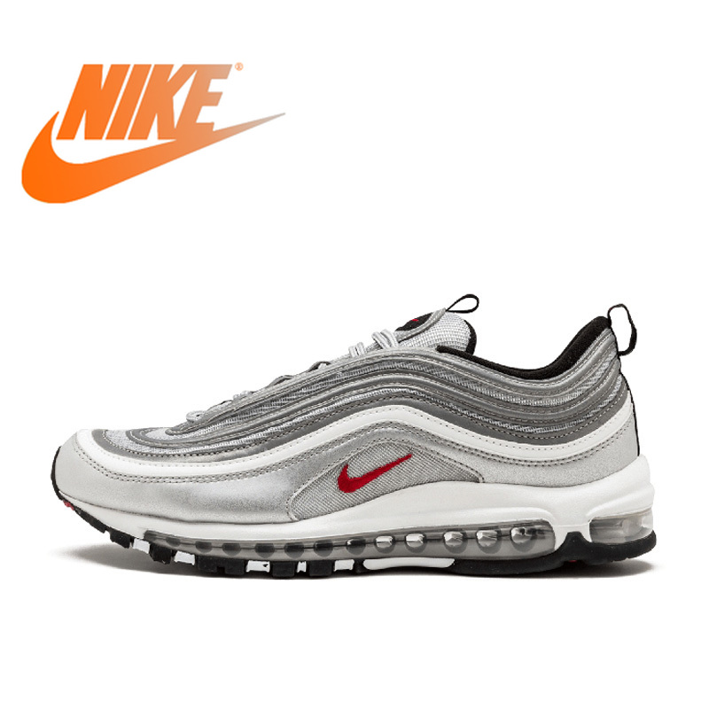 bbeb2fabd321 Original Authentic Nike Air Max 97 OG QS Women s Breatheable Running Shoes  Outdoor Sports Low-