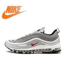 0423c92a2b13 Original Et Authentique Nike Air Max 97 OG QS Femmes Respirables de  chaussures de course en plein Air de Sport Bas-top Sneakers .