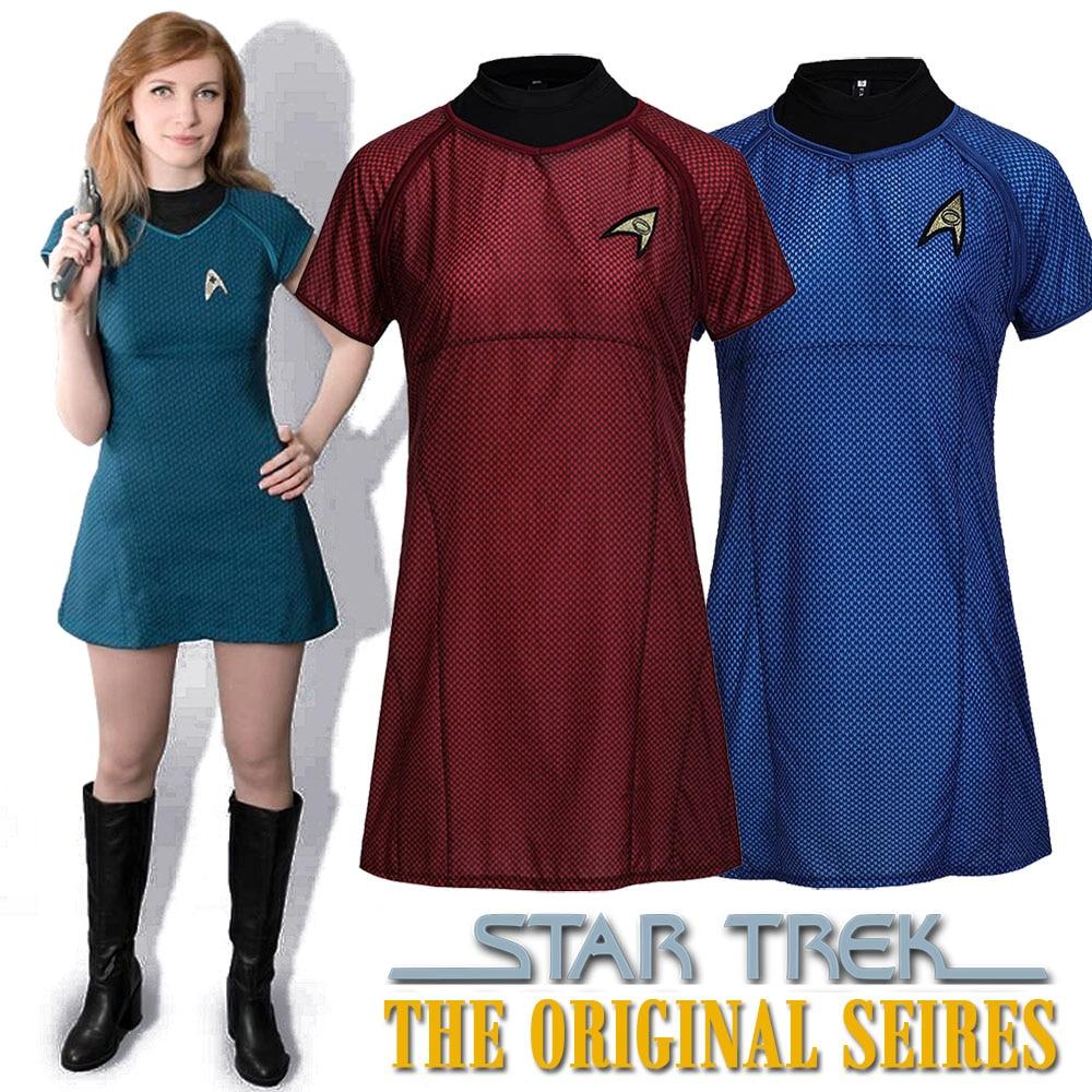 Star Trek Original Series T-Shirt Dress Star Trek Into Darkness Classic  Uhura Marcus Dress Uniform Women Halloween Fancy Dress a5e39cce7d