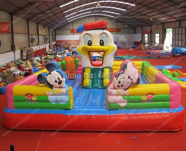 Aire de jeux gonflable de cavalier de souris de château gonflable sautant Commercial à vendre