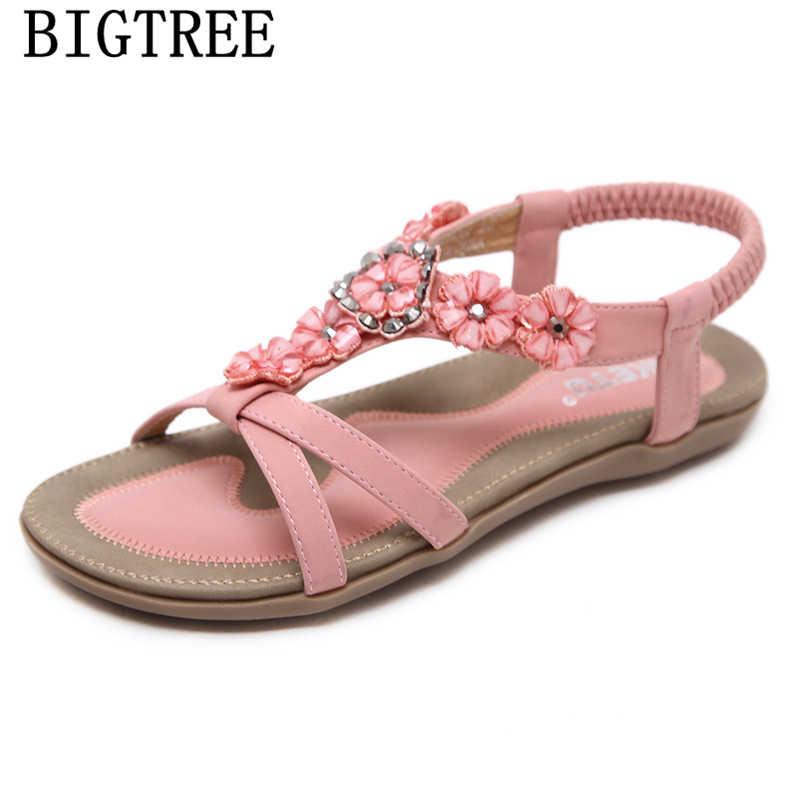Tamanho grande boêmio sandálias sandálias de strass sexy sandálias sapatos de verão mulher teenslippers sapatos sandalias de verano mujer pará