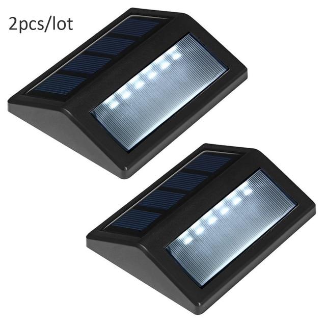 2 PCS LED Solar Stair Light Convert Waterproof Solar Light For Outdoor  Corridor Garden Stairs Lamp