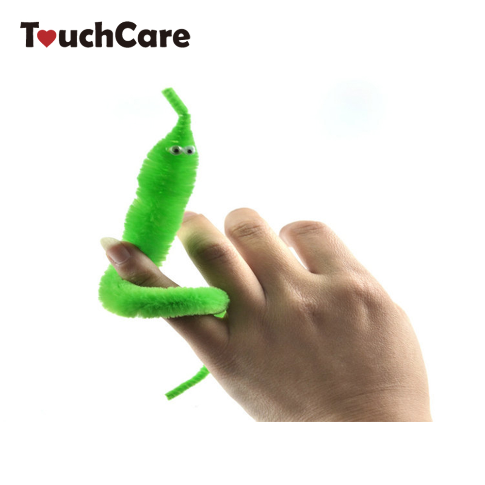 2019 Magicians Toy Baralho Mr.fuzzy Magical Worm Magic Trick Twisty Plush Wiggle Stuffed Animals Street Toy For Kids Gift 21cm