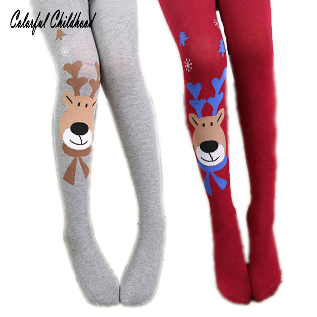 christmas baby clothing toddler girls tights cartoon elk warm tights kids girls pantyhose children stockings xmas
