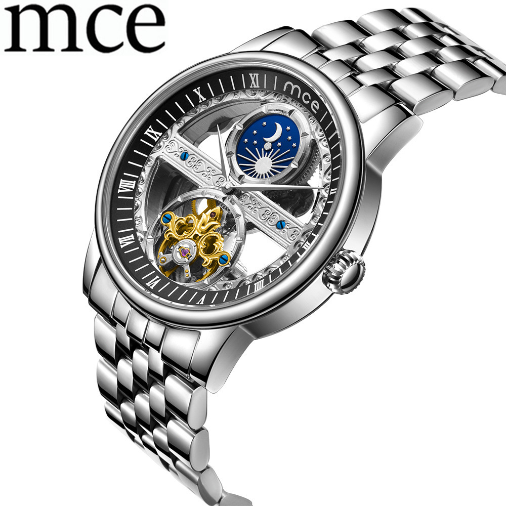 Men's Watch Men Clock Relogio Masculinol Automatic Mechanica Man Watches Stainless Watch MCE Luxury Brand Tourbillon Wristwatch