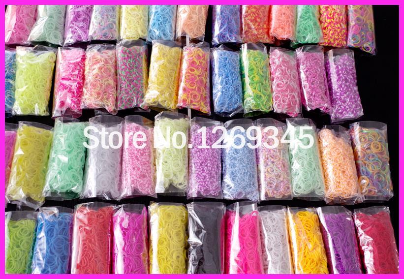 Let's Make 6000pc/20colour Gum For Bracelets Hottest Loom Bands Refills Loom Rubber Bands For DIY BRACELET Bracelet Rubber