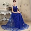 Nova moda 2017 lace longo vestido de festa vestidos elegantes vestidos de noite formal