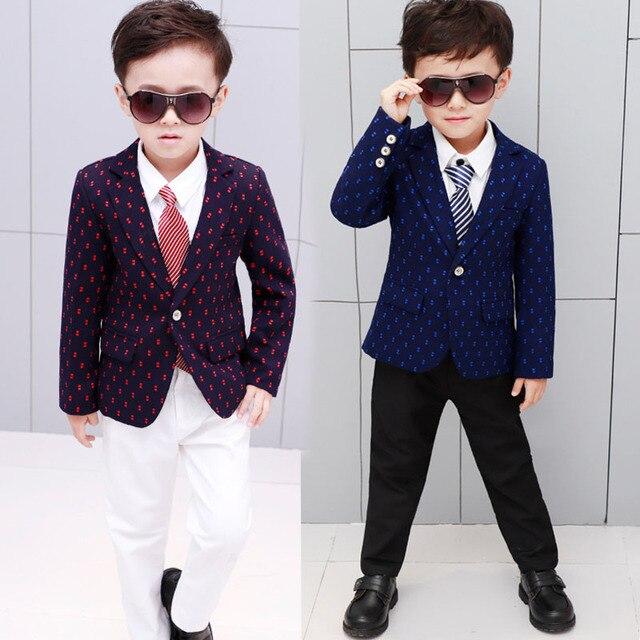 Nouvelles enfant costumes cool dot floral enfants veste douce école garçon  blazers pour homme mince et bd2b6f264a5