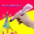 Nuevo Diseño de la Impresión 3D Pen Uso 1.75mm ABS/Filamento del PLA 3D pluma Con Pantalla LED Dibujo Juguetes Creativos Para Niños Gratis gratis