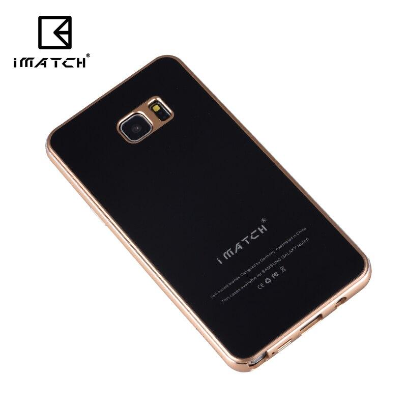 imágenes para Para Samsung Galaxy Note 5 Caja de Metal de Lujo 9 H Dureza Prima Vidrio templado Contraportada Marco Del Metal de Aluminio Del Teléfono Celular casos
