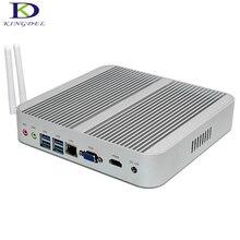 Высокое качество безвентиляторный мини настольных ПК 5th генерал бродуэлл Intel i5 5200U Dual Core, HDMI VGA USB3.0 SD Card Reader, linux pc NC340