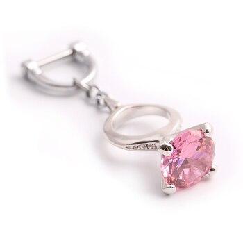 Milesi Vrouwen Sleutelhanger Charms Sleutelhanger Zirkoon Sleutelhouder Creative Ring Vorm Penadnt Voor Autosleutel Mode Vriendin Gift JA030