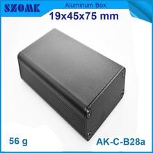 4pcs lot heatsink black aluminium housing instrument enclosure for electronic 19 45 75mm