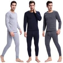 Men 2 Piece Set Clothes Men s Thermal Underwear Sets Autumn Winter Warm Mens Underwear Men