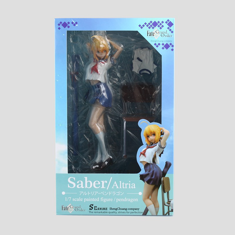 Anime Figure 22CM Fate/Grand Order Saber Lily Altria Pendragon Sailor Suit Ver. PVC Action Figure Collectible Model Toys Doll