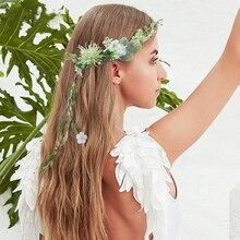 Bridal Flower Crown Headpieces Women Garland Rustic Bridesmaid Hair Headbands Wedding Accessories