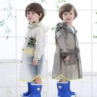 TPU Transparent Raincoat For Children Kids Rain Poncho Coat Child Sets Chubasqueros Capa De Chuva
