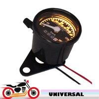 Universal 12v Motorcycle Speedometer Odometer Gauge Scooter Bike Speed Meter 0 140 Km H With Night