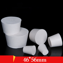 46*56mm Solid rubber stopper for tube Bottle rubber cover Perforated stopper bung Closing plug Sealed lid cap Wine bottle corks 54pc high temp silicone rubber powder coating paint solid tapered stopper plug kit color varies according to inventory