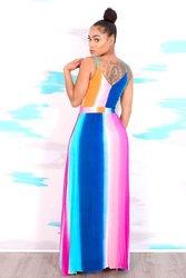 Kobieta Sukienka 2018 wiosna lato formalne Sukienka w stylu Vintage afryki sukienki dla kobiet Plus rozmiar sexy rainbow Tute esthetic Donna Sukienka 3