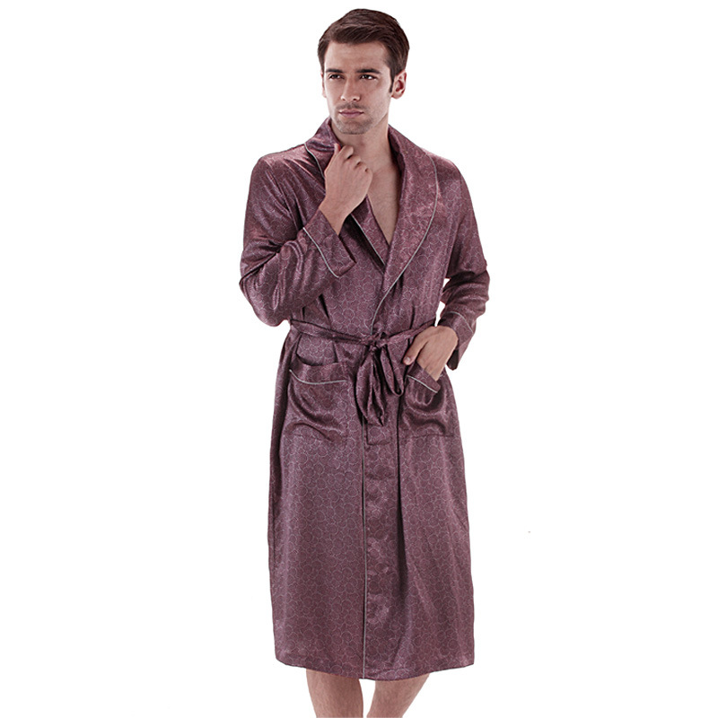 2015 New Male Spring Autumn Dressing Gown Mens Paisley Bath Robe ...