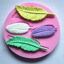 foliage silica gel candy mould Chocolate cake candle wax Molds