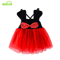 EOICIOI Lovely Minnie Sling Infant Dress Christmas Costumes For Girls Baby Girl Dress Summer Bow Ball