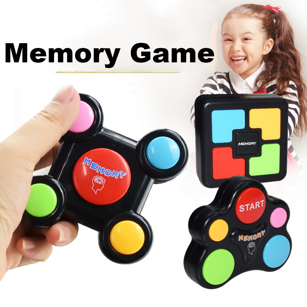 New Early Educational Memory Game With Lights And Sounds Kids Birthday Gift Button Press Brainstorming Electric Puzzle Quiz Game