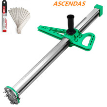 ASCENDAS New Stainless Steel Manual Gypsum Board Cutting Artifact Roller Type Hand Push Drywall Tool TP-0235