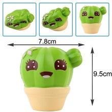 10 CM Besar Mainan Kaktus Kaktus Tanaman Kaktus Meredakan Stres Squeeze Penyembuhan Lambat Meningkatnya Lembut Kartun Lucu Anak-anak Hadiah Mainan Squishi