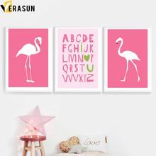 VERASUN Bird Quotes Umělecká reprodukce na plátně Nordic Poster Wall Art Posters A Prints Wall Obrázky pro dětské pokoje Quadro Home Decor