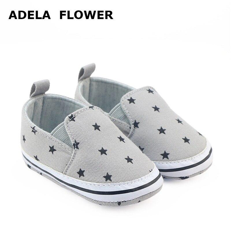 Adela Flower Newborn Baby Boy Shoes Soft Sole Slip on ...