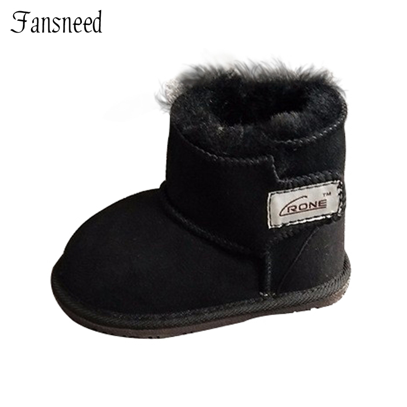 4b279db5a De los nuevos niños de la nieve botas de piel de Oveja zapatos de bebé para