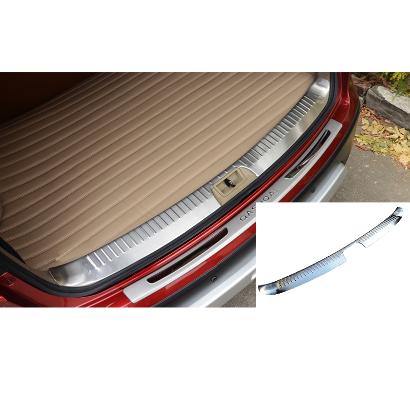 Accessoires de voiture seuil de porte arrière plaque de pare-chocs arrière pour Nissan Qashqai Dualis 2007 2008 2009 2010 2011 2012 2013 2014 2015 1 pc