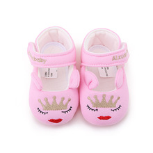 Delebao Eyes Closed Red Mouth Queen Pattern Baby Girl & Boy Cotton Fabric Shoes Soft Sole Infant Toddlers Baby Shoes Wholesale цена в Москве и Питере