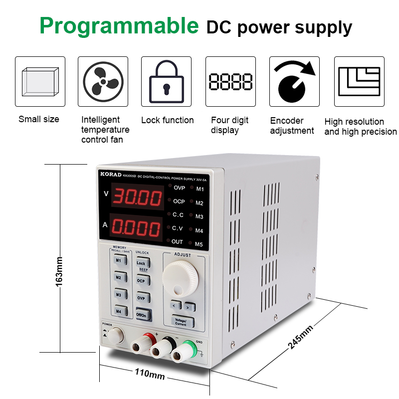 Adjustable-Power-Supply-KA3005D-Precision-Adjustable-30V-5A-DC-Linear-Digital-Voltage-Regulator-Power-Supply-Free