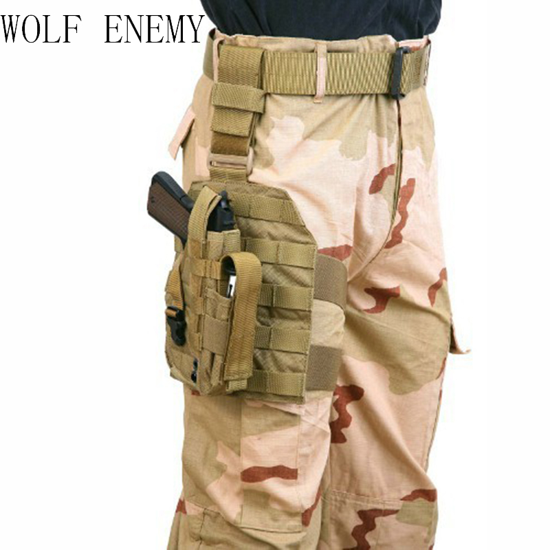 Tactical Airsoft Molle Drop Leg Platform Paneel W / Pistool Holster