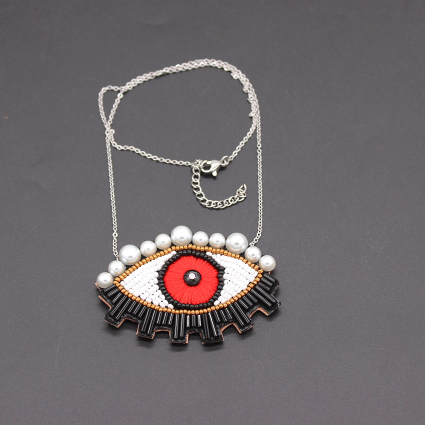 2018 New long handmade personality eye handmade Shourouk wind accessories fashion necklace 885 цена