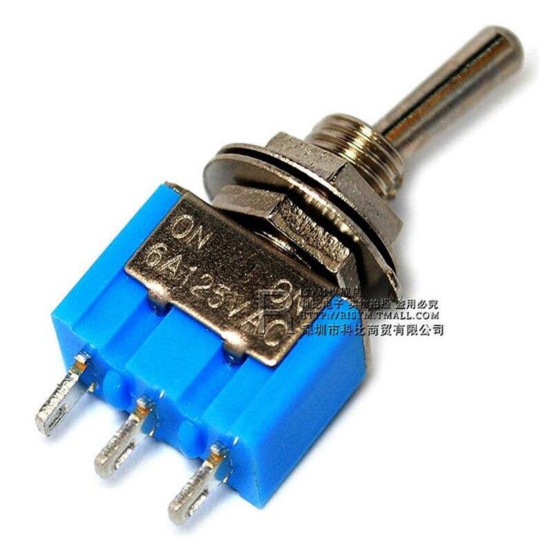 Toggle switch 102 MTS-102 único balançou a cabeça três pés dois interruptor de alternância