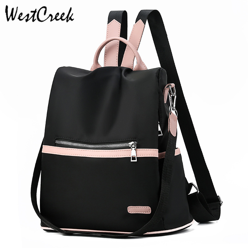 WESTCREEK Brand Anti Theft Women Backpack Purse Oxford Cloth Canvas Back Pack Feminine Student Bookbag Fashion Travel Bag