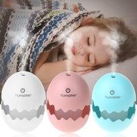 New Arrival Figurines Mini USB Egg Ultrasonic Humidifier Portable LED Light For Home Office Car Decoration